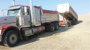 gravel hauling in Edmonton