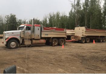 gravel hauling Alberta
